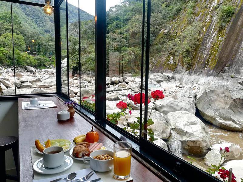 Café da manhã com vista incrível no Peru