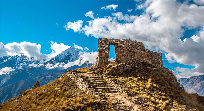 Porta do Sol em Machu Picchu no Peru