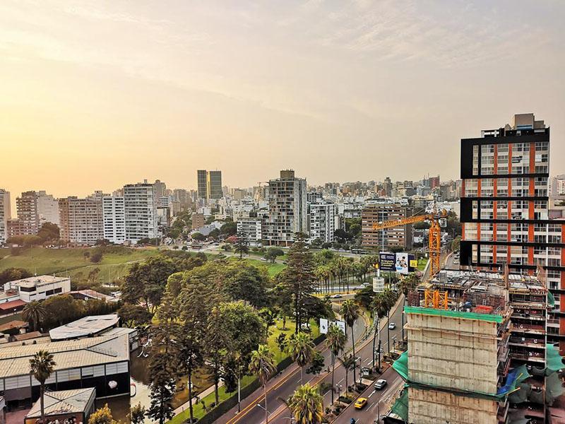 Vista aérea do bairro Barranco em Lima