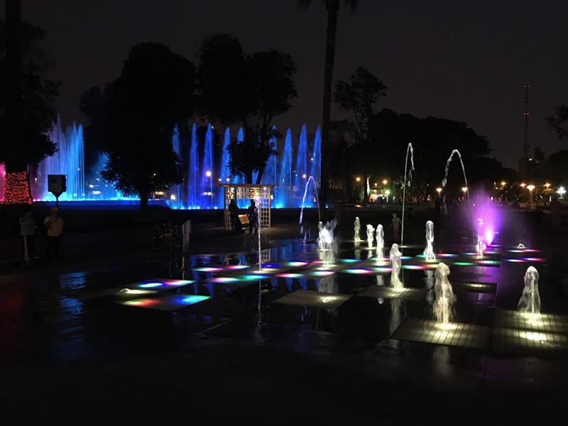 Fontes para interagir no Circuito Mágico das Águas em Lima