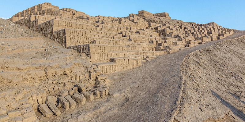 Vista da Huaca Pucllana em Lima