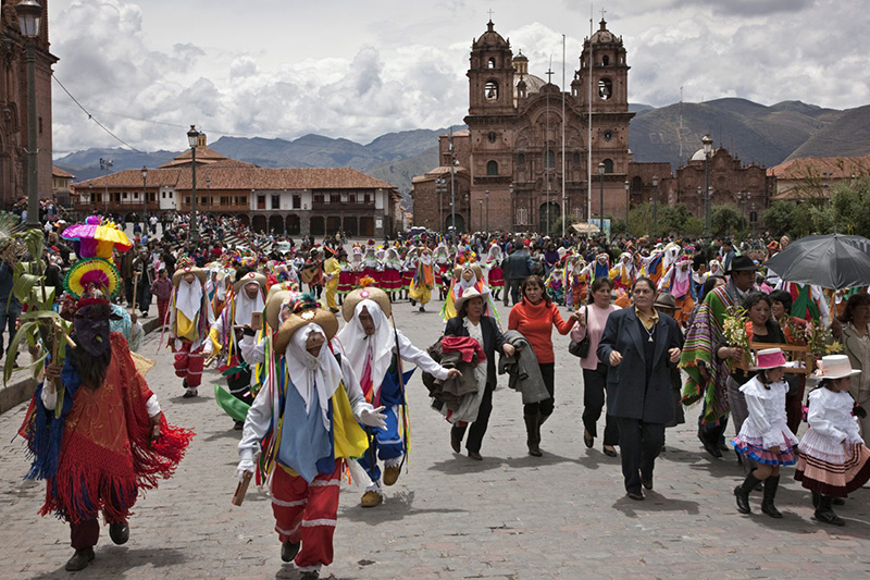 Desfile de Natal em Cusco
