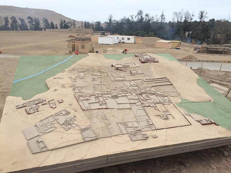 Mapa do Sítio Arqueológico Pachacámac em Lima