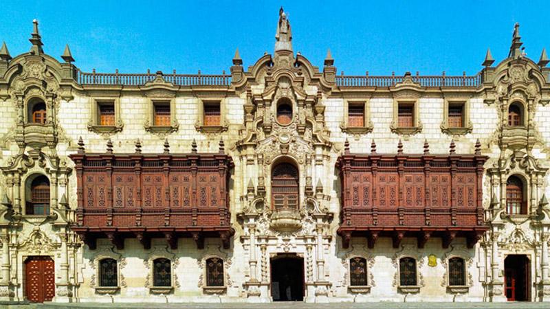 Palácio Arzobispal em Lima