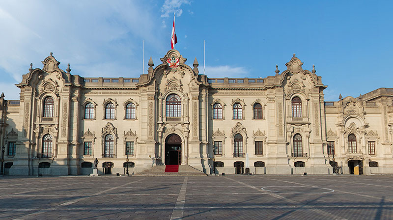 Palácio do Governo em Lima