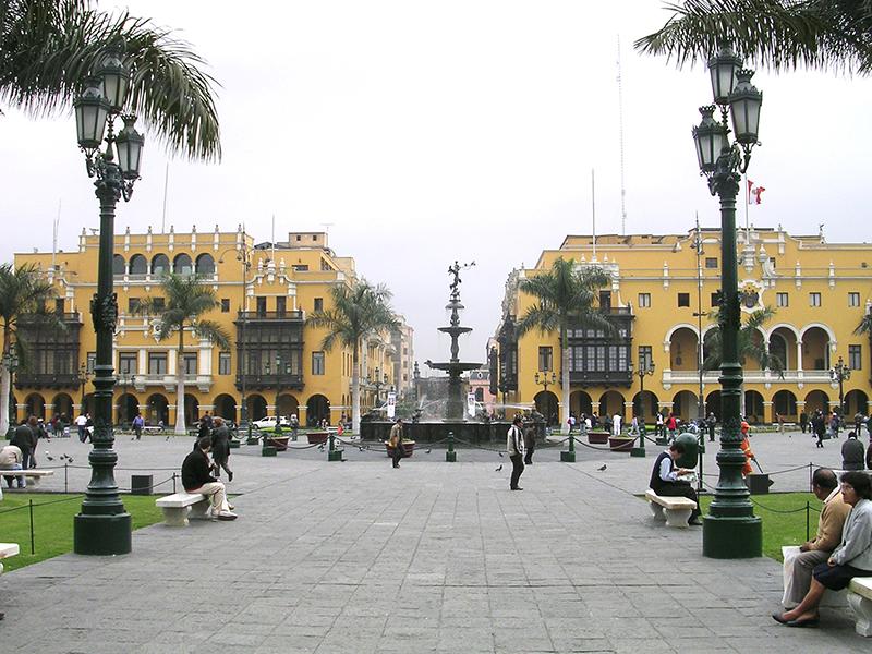 Plaza de Armas em Lima