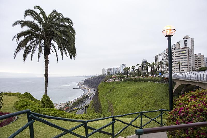 Vista do Parque do Amor em Lima