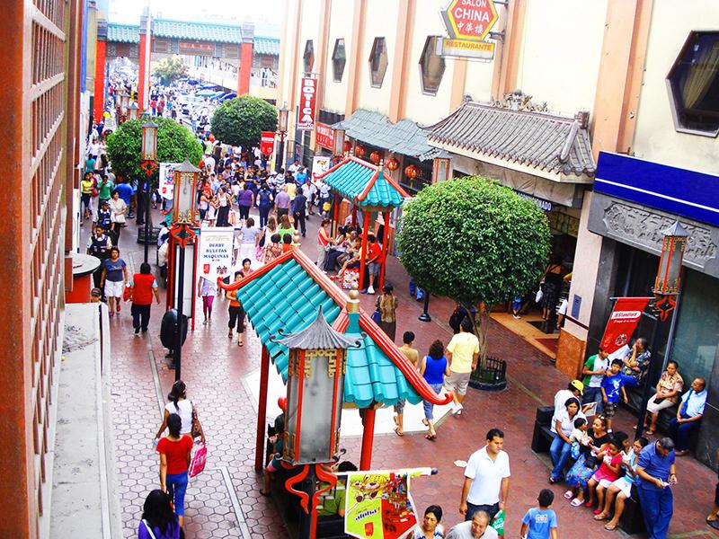 Rua do Bairro Chinês de Lima
