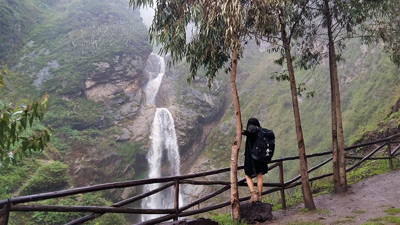 Vista da Cachoeira de Antankallo em Lima