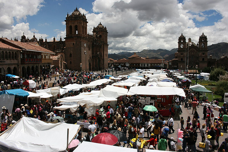 Feira de Natal em Cusco