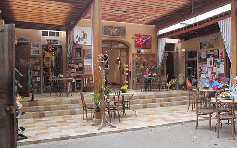 Café da Loja de Artesanato Dédalo em Lima