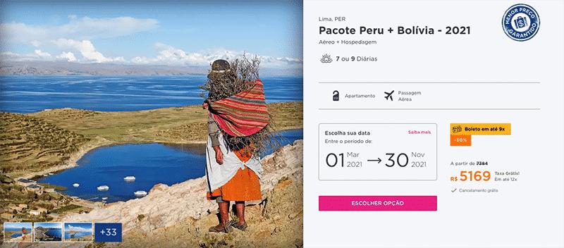 Pacote Hurb para Peru + Bolívia por R$ 5.169