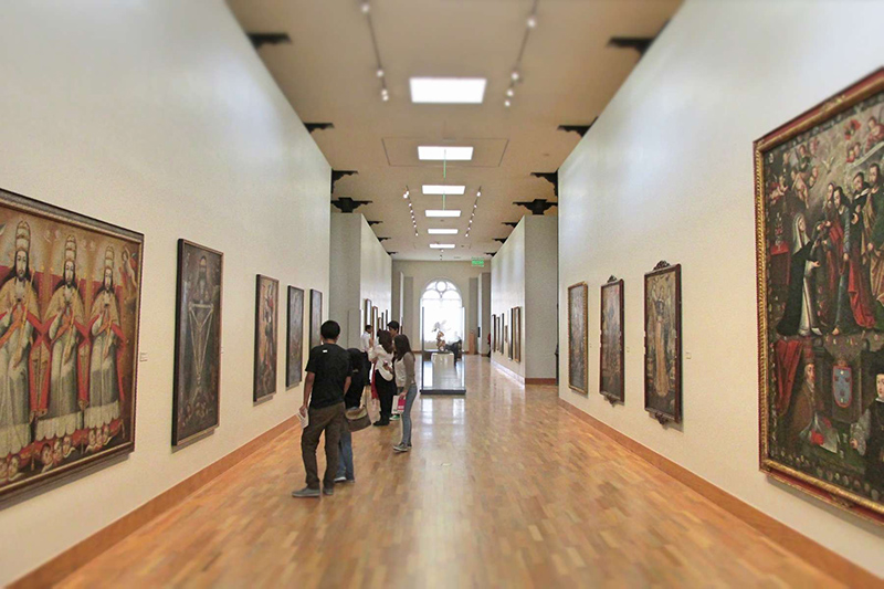 Interior do Museu de Arte de Lima