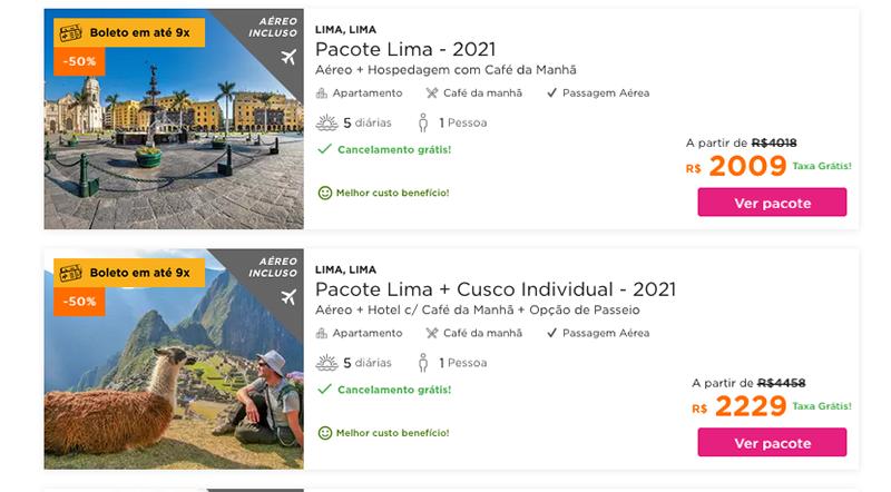 Principais pacotes Hurb para o Peru