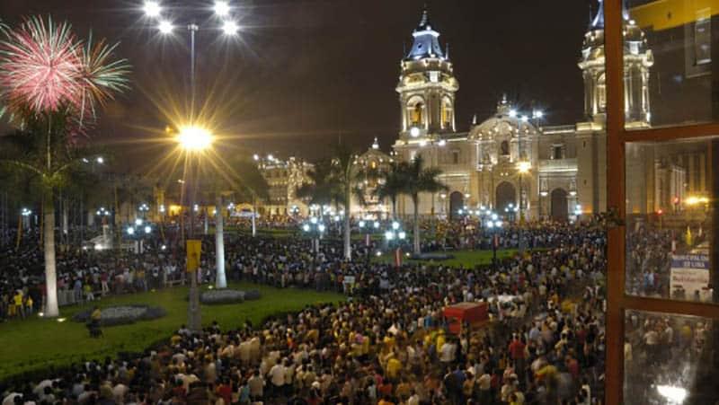 Festa de Ano Novo no Centro de Lima