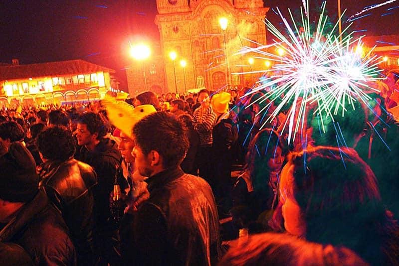 Ano Novo na Plaza de Armas em Cusco