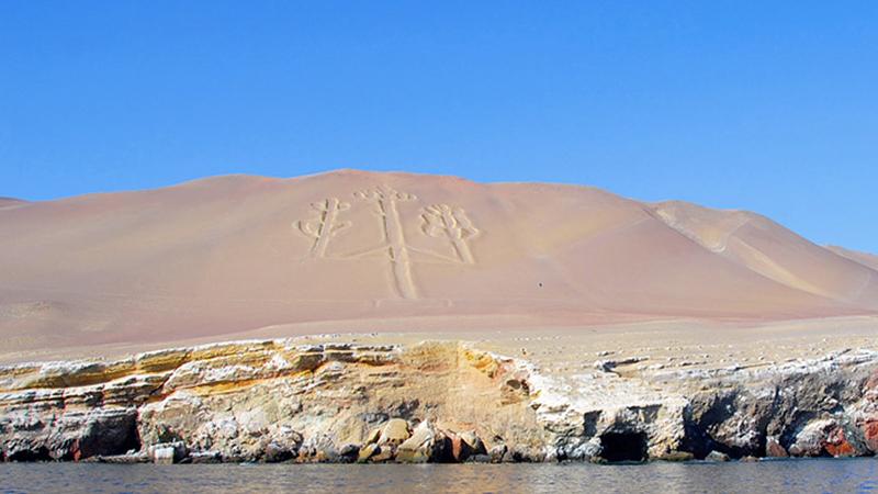 Candelabro do Deserto de Paracas no Peru