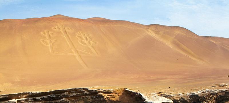 Dunas do Deserto de Paracas no Peru