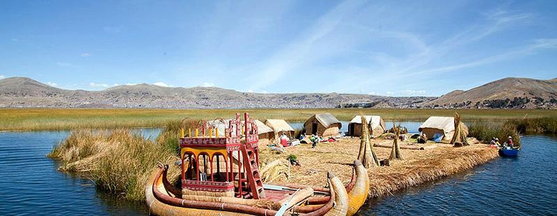 Comunidade de Uros no Peru