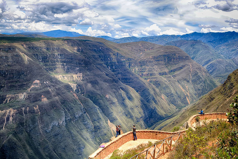 Sonche Canyon em Chachapoyas no Peru