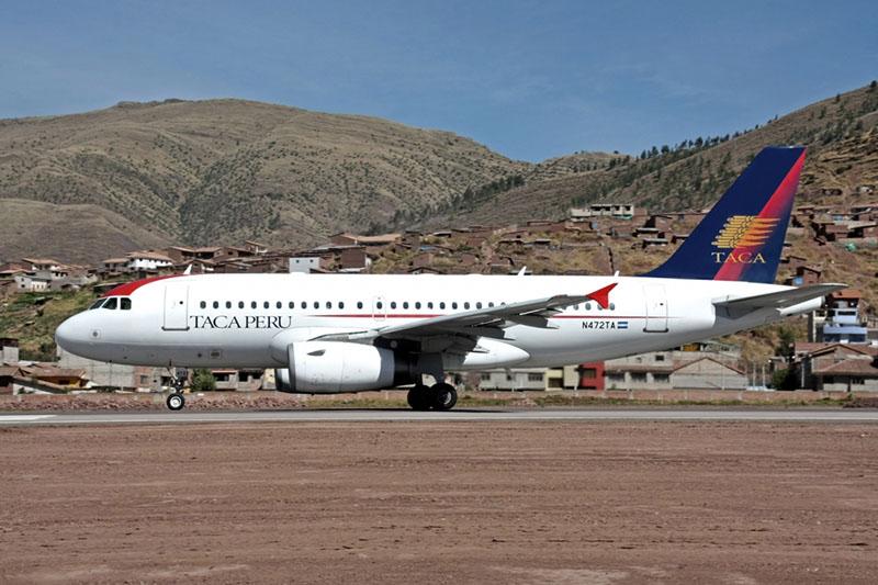 Avião da empresa Taca no Peru