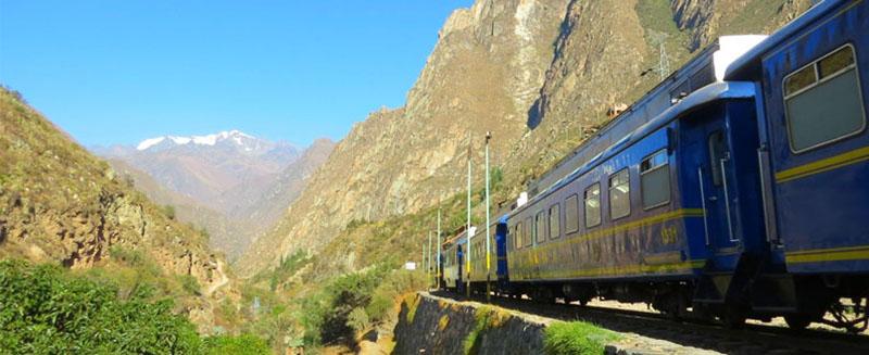 Vista do trem em Cusco