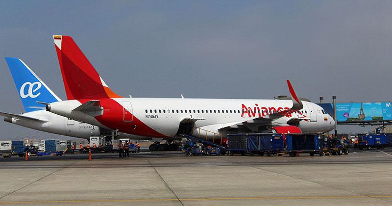 Avião da empresa Avianca no Peru