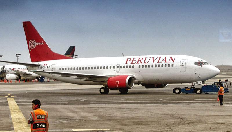 Avião da empresa Peruvian no Peru